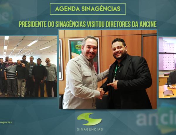 Presidente do Sinagências visitou diretores da Ancine
