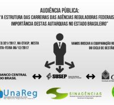 """AUDIÊNCIA PÚBLICA – """"A estrutura das carreiras das Agências Reguladoras Federais e a importância destas Autarquias no Estado brasileiro"""""""