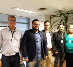 Diretor da ANS, Leandro Fonseca da Silva, recebe membros do Sinagências