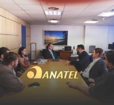 Conselheiro da ANATEL, Emmanoel Campelo, recebe membros do Sinagências