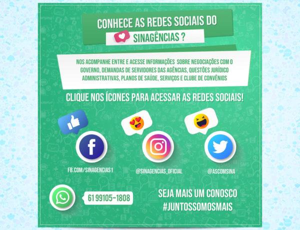 #Juntossomosmais : Conheça as redes sociais do Sinagências