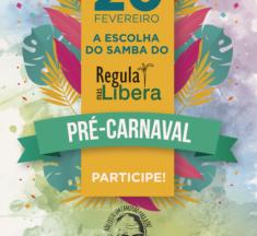 """É hoje a escolha do samba do """"Regula Mas Libera"""". Participe!"""