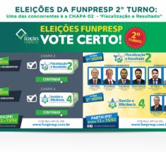 """Eleições da Funpresp 2º turno : Uma das concorrentes é a CHAPA 02  – 'Fiscalização e Resultado"""""""