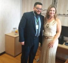Agenda institucional: deputada Aline Sleutjes (PSL-PR) recebe presidente do Sinagências