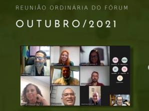 OUTUBRO 2021 – Reunião Ordinária do Fórum de Recursos Humanos das Agências