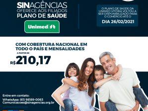 ADESÕES ATÉ FINAL DO MÊS  – Sinagências oferece aos filiados plano de saúde UNIMED